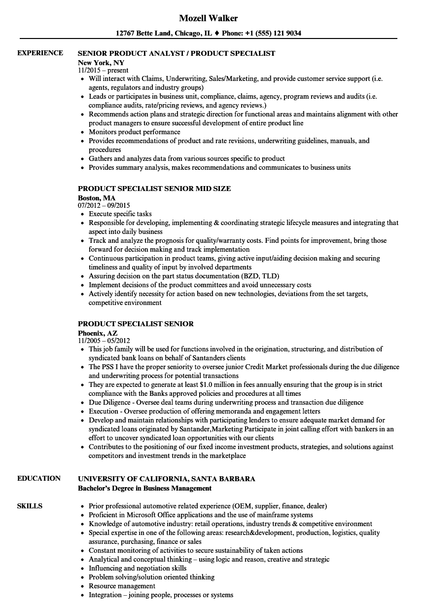 download product specialist senior resume sample as image file - Licensing Specialist Sample Resume