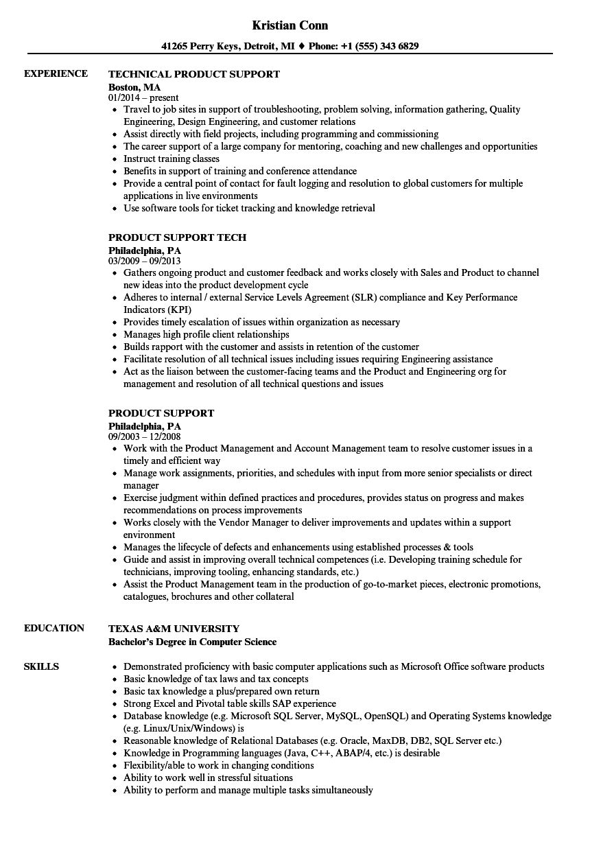 product support resume sample - Collection of marketing manager resume sample documents folder macro may yarn