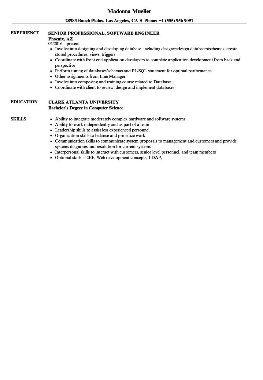 Professional Software Engineer Resume Samples Velvet Jobs