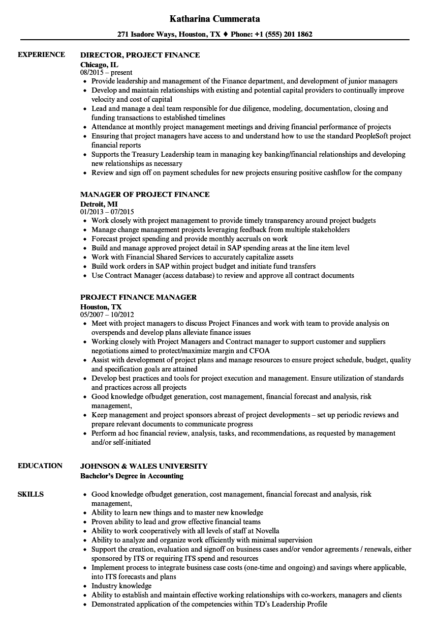 Project finance resume samples velvet jobs download project finance resume sample as image file altavistaventures Gallery