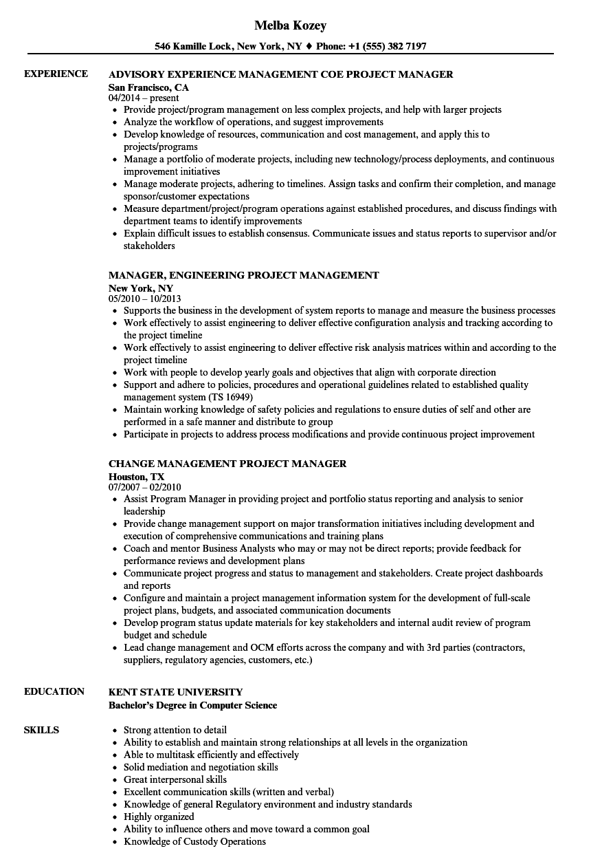 project management project manager resume samples velvet jobs