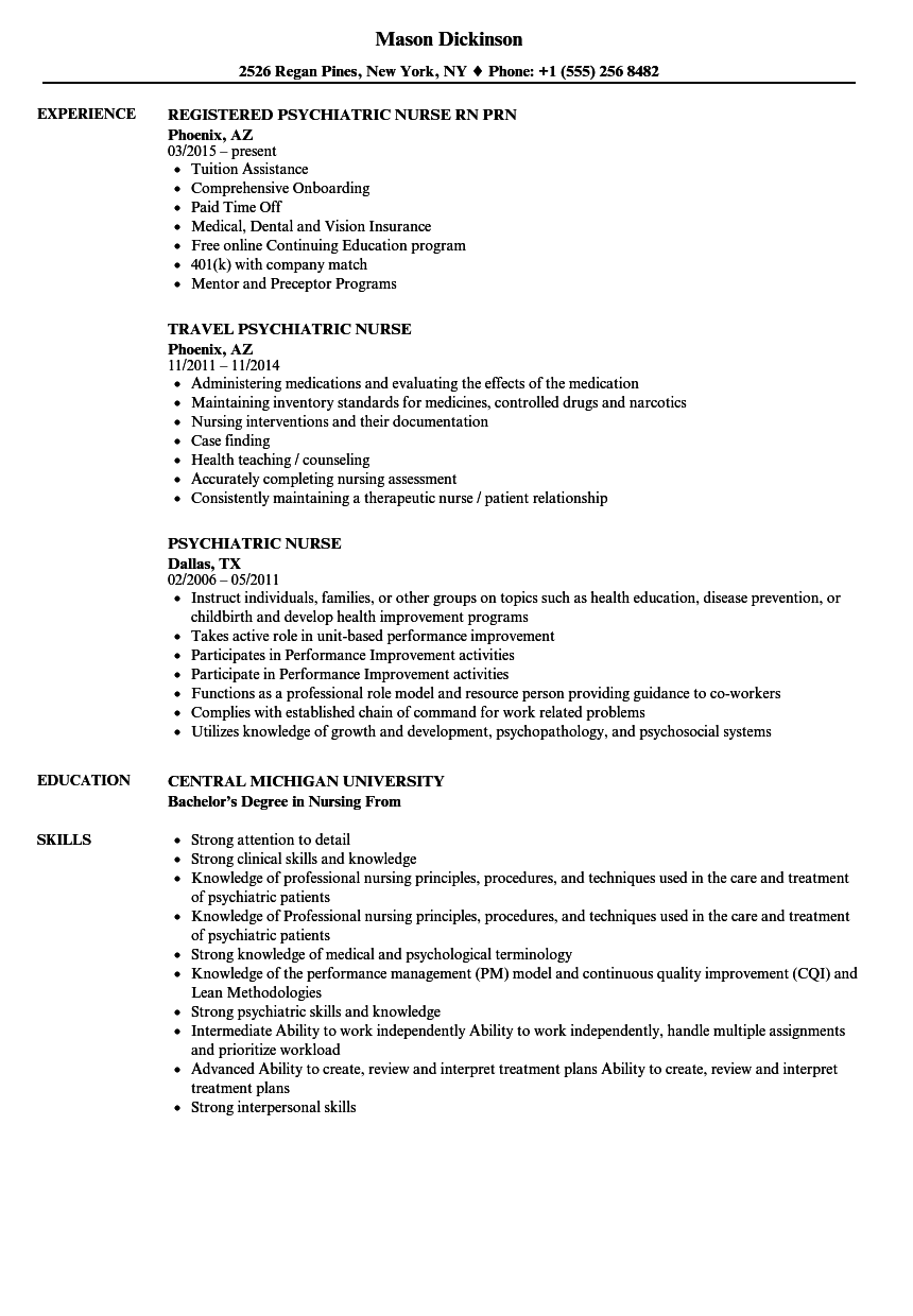 Download Psychiatric Nurse Resume Sample As Image File  Psych Nurse Resume