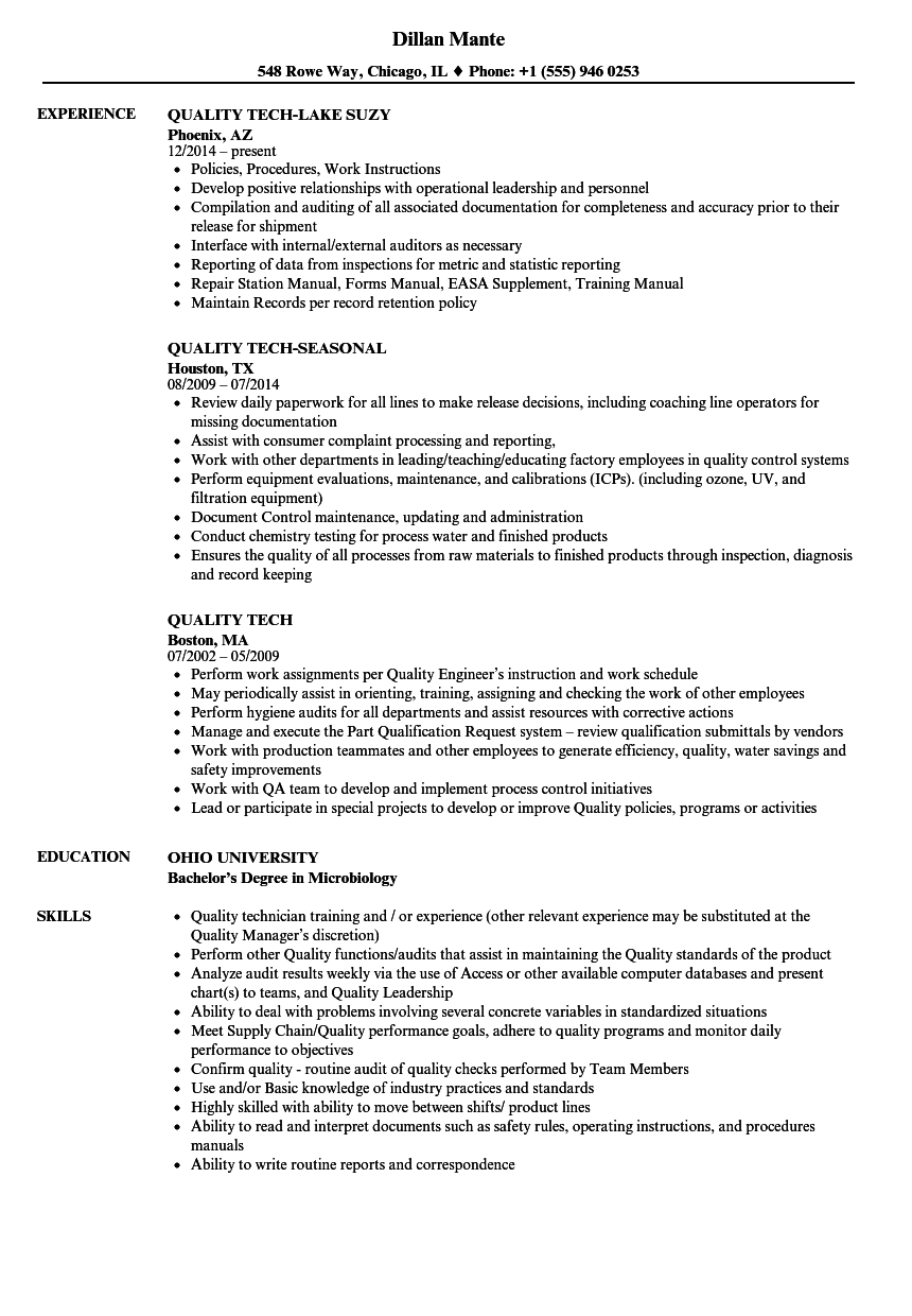 Quality Tech Resume Samples | Velvet Jobs