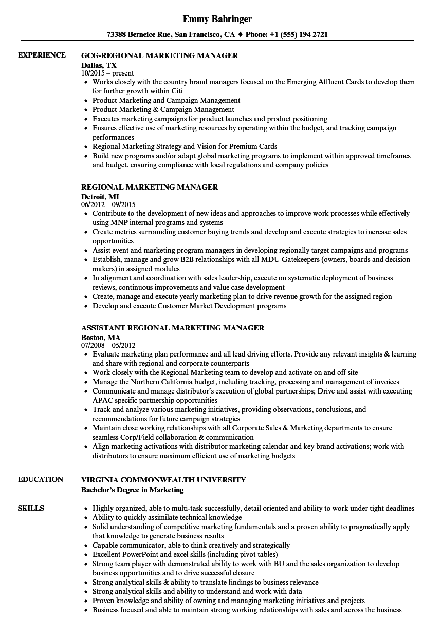 marketing manager resume - solarfm.tk