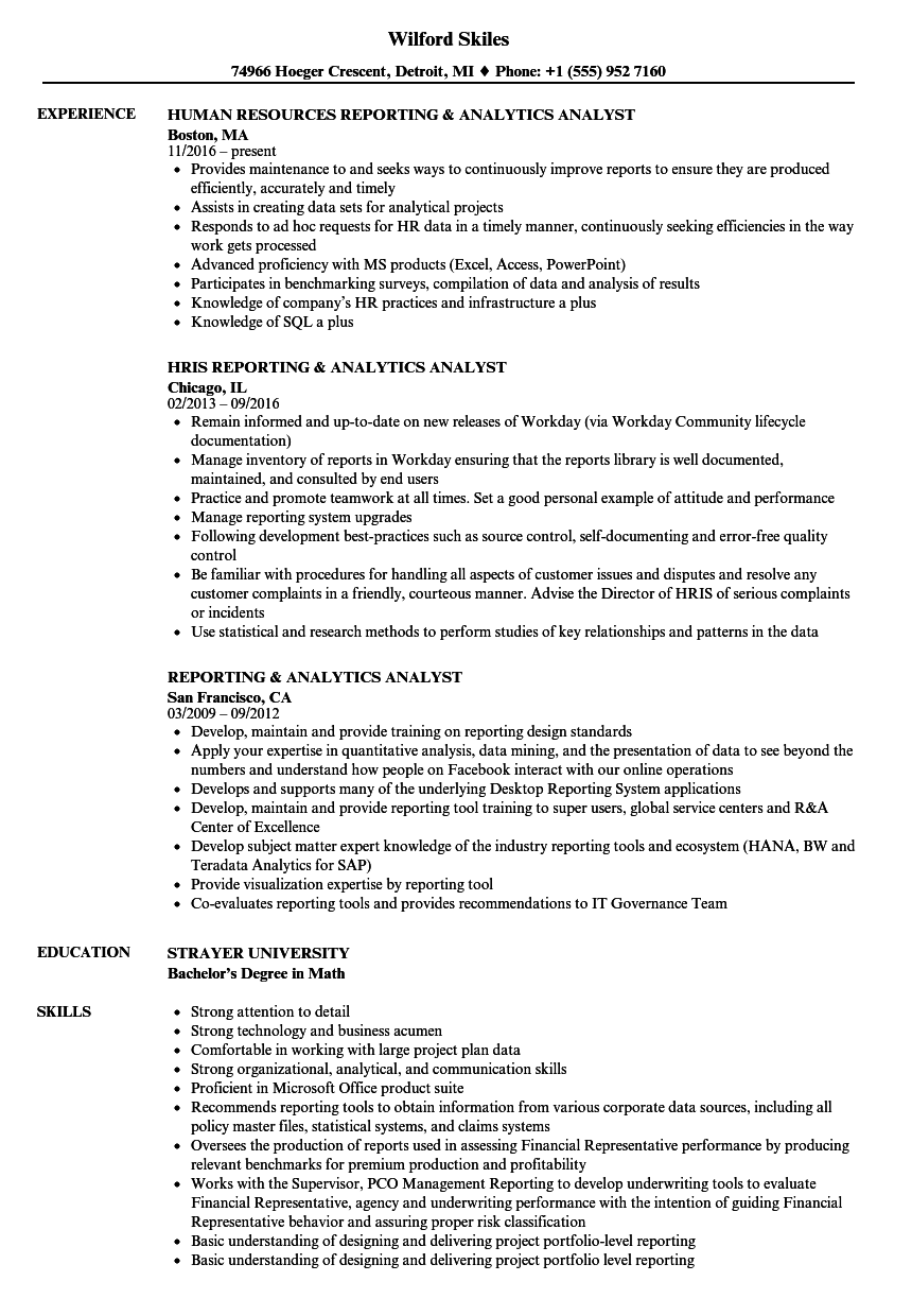 Tableau business analyst resume