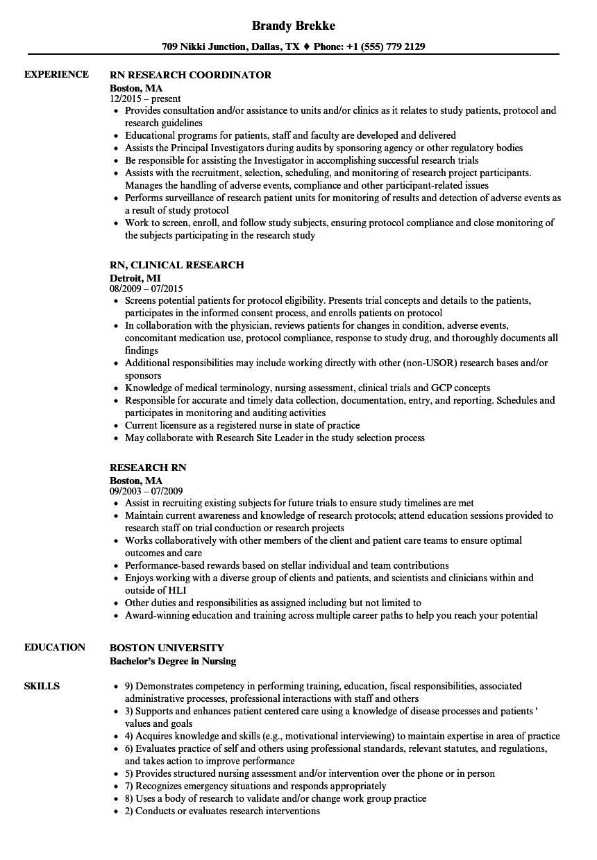 download research rn resume sample as image file - Research Nurse Sample Resume