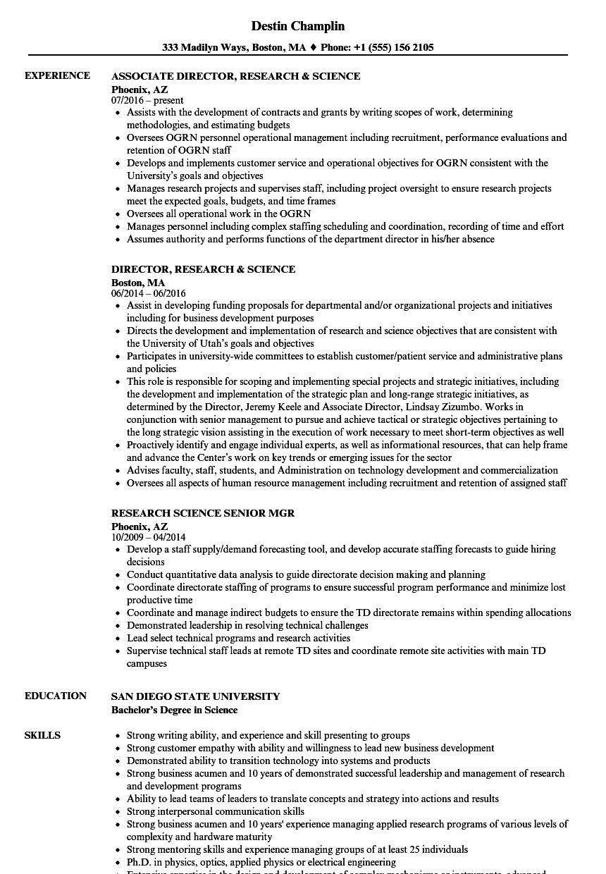 download research science resume sample as image file - Resume For Science Research Job