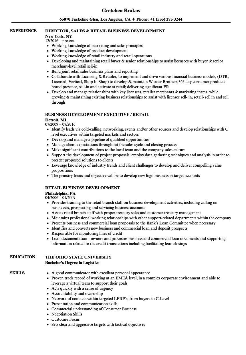 Resume Examples For Buyers In Retail