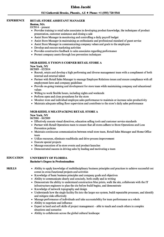 Retail Store Resume Samples | Velvet Jobs