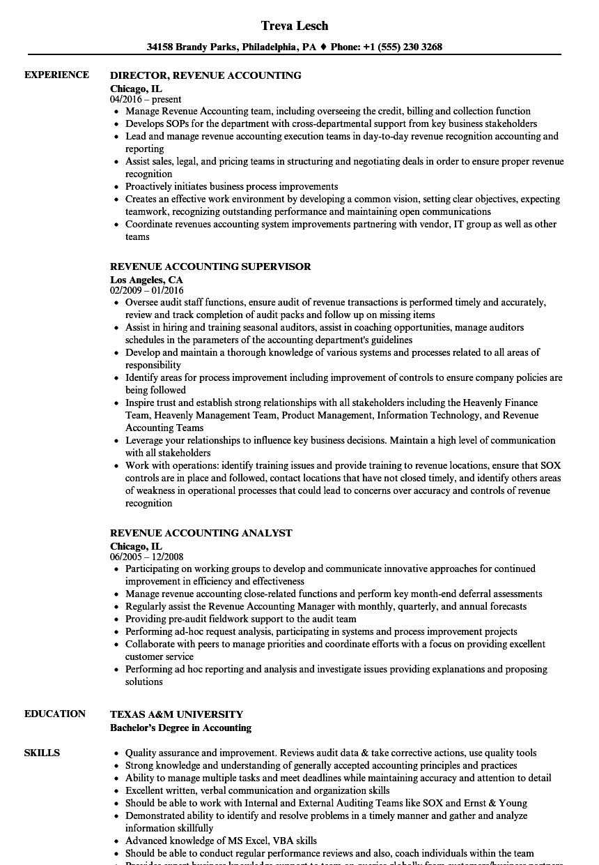download revenue accounting resume sample as image file