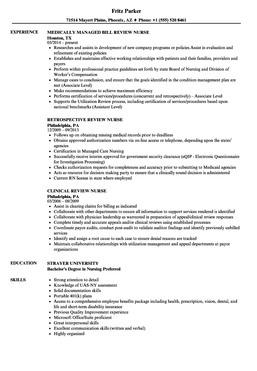 review nurse resume samples velvet jobs
