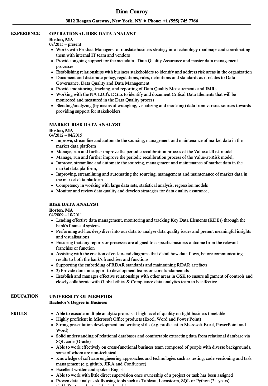 data qa analyst job description resumes free intended for risk data analyst resume samples velvet