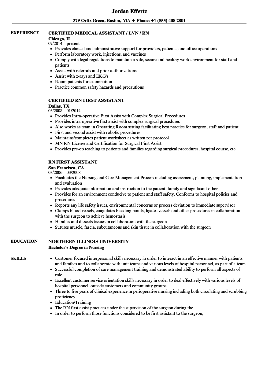 download rn assistant resume sample as image file