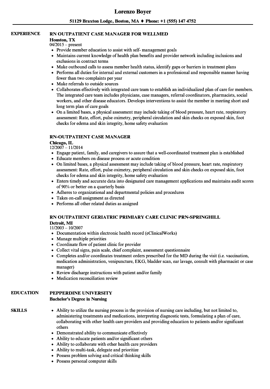 Download RN Outpatient Resume Sample As Image File  Resume For Rn