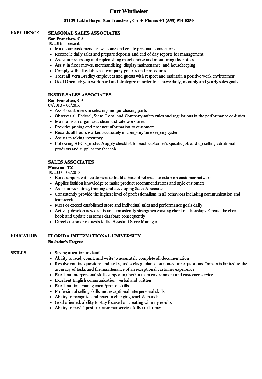 Download Sales Associates Resume Sample As Image File  Sales Associate Resume Examples