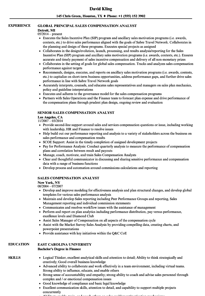Download Sales Compensation Analyst Resume Sample As Image File    Compensation Analyst Resume  Credit Analyst Resume Sample