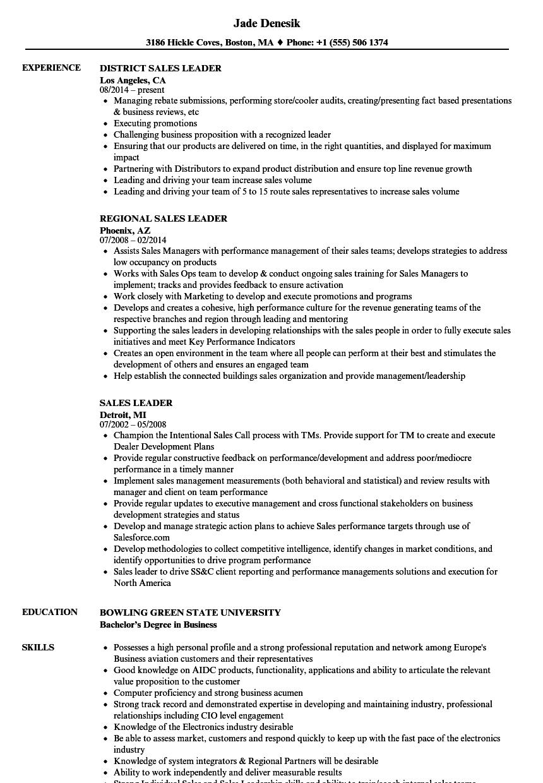 Institutional Sales Resume Sample