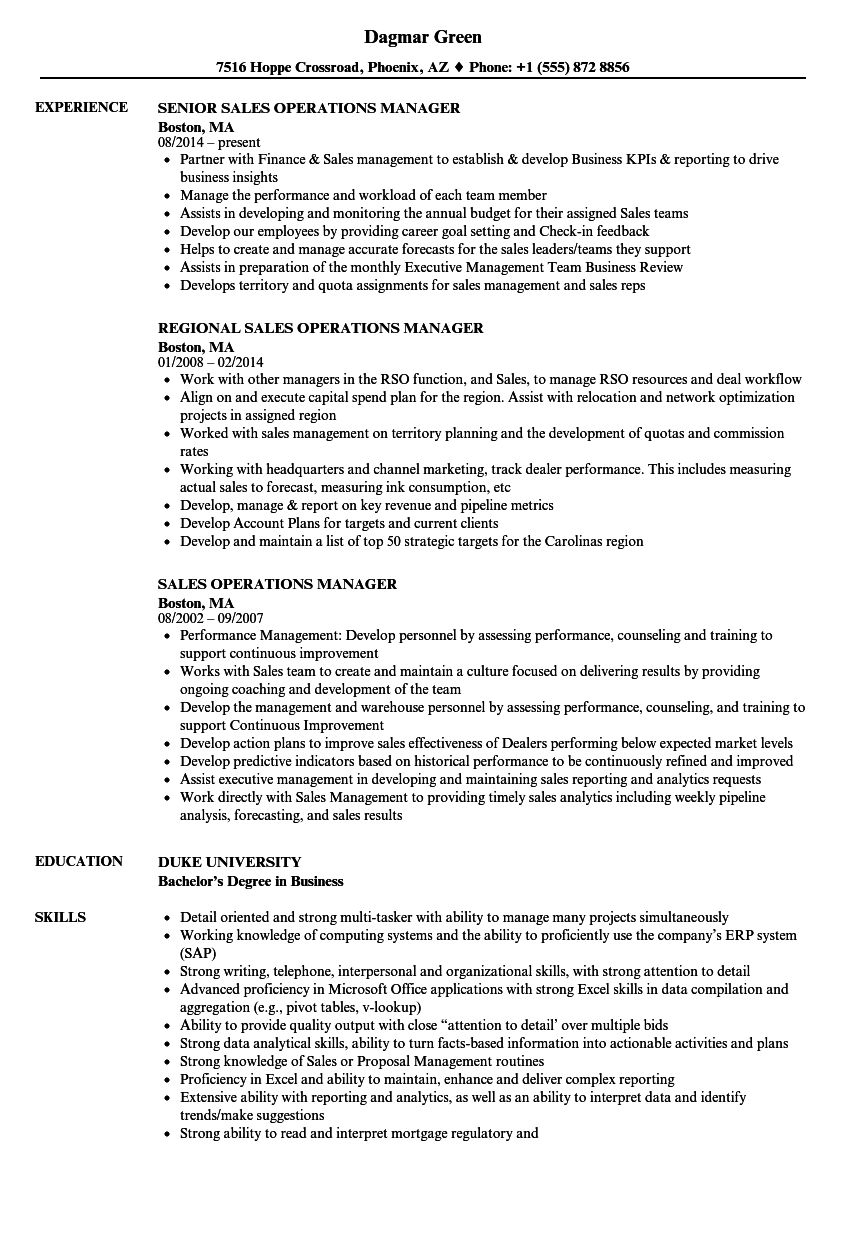 sap sales manager resume - direct relief