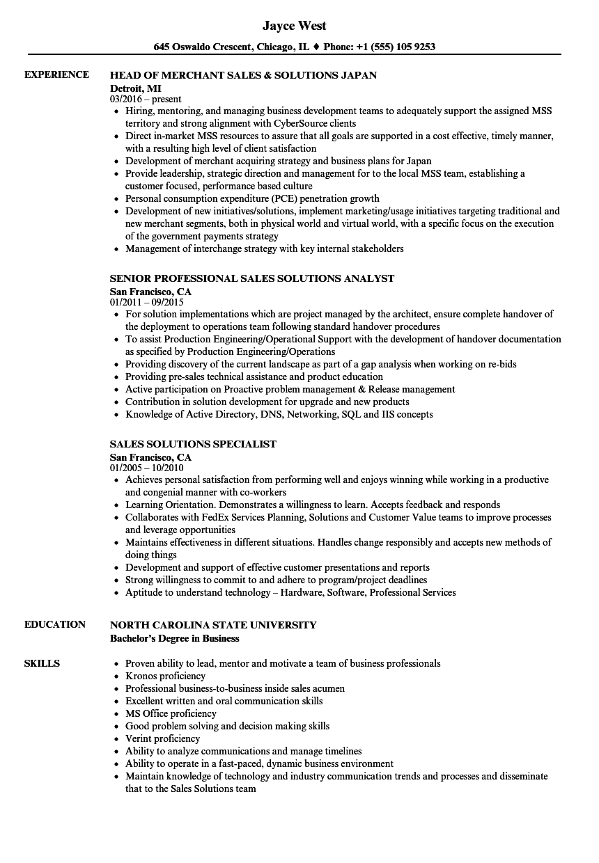 Velvet Jobs  Professional Sales Resume