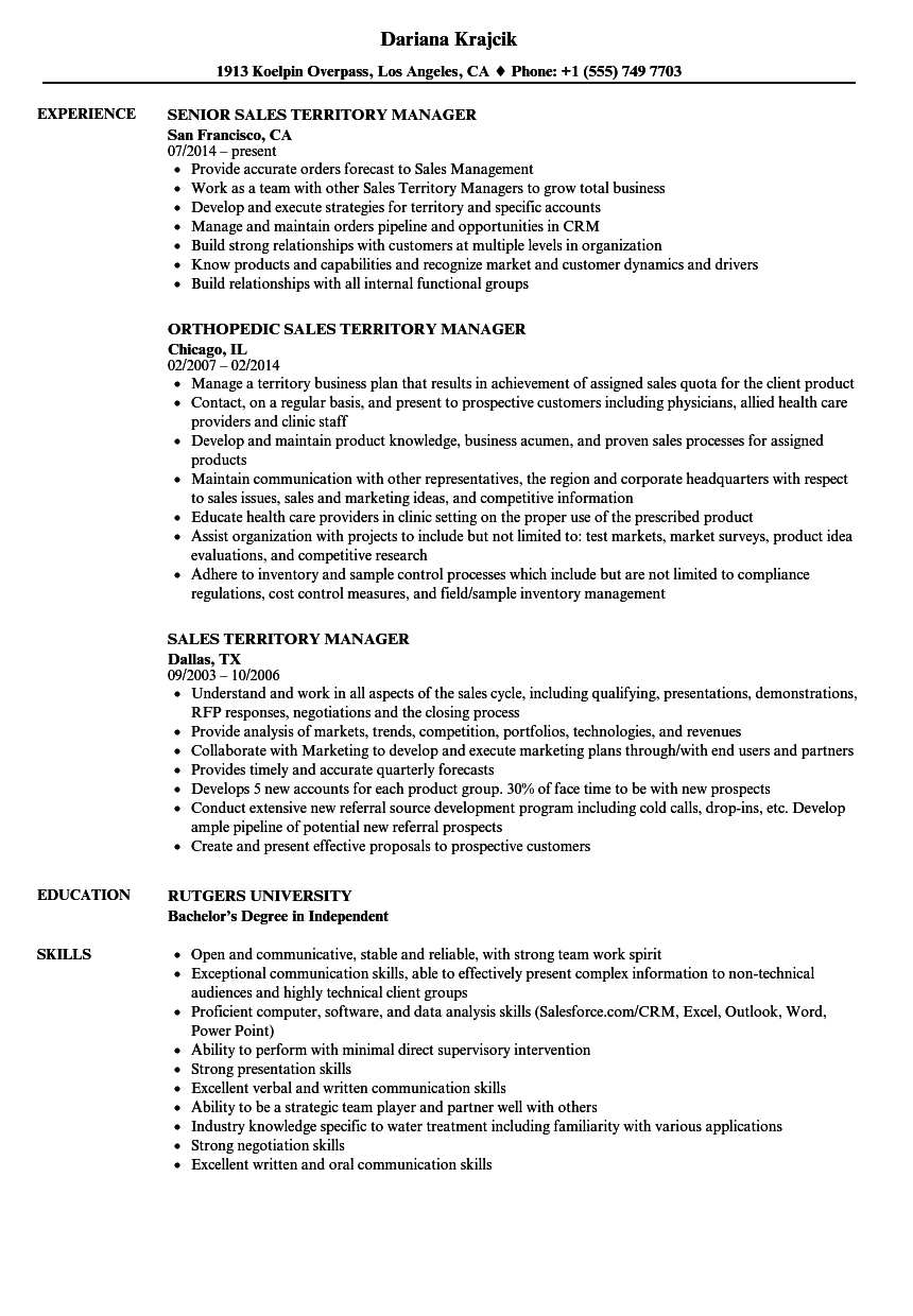 Download Sales Territory Manager Resume Sample As Image File  Territory Manager Resume