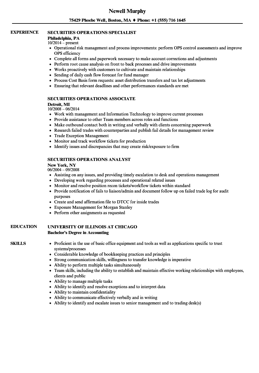 Related Job Titles. Operations Team Lead Resume Sample