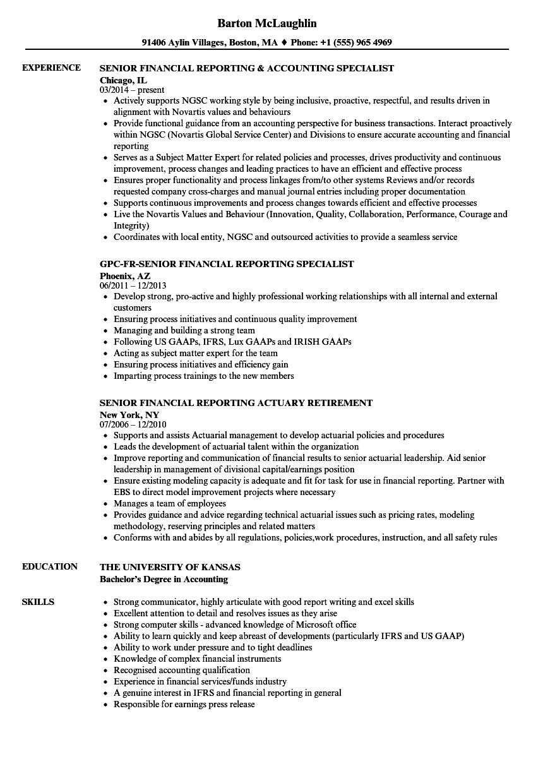 Standard Work Resume