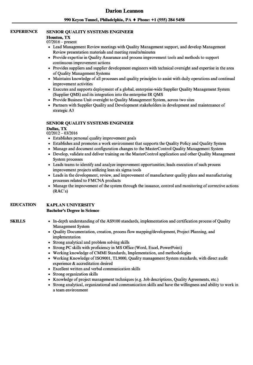 resume templates format for qa engineer sample qc electrical test cv