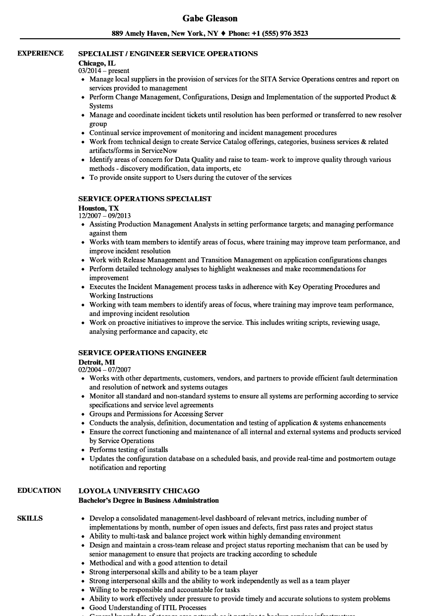 download service operations resume sample as image file - Director Of Operations Resume