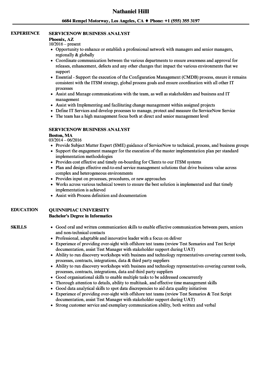 download servicenow business analyst resume sample as image file - Sample Management Business Analyst Resume