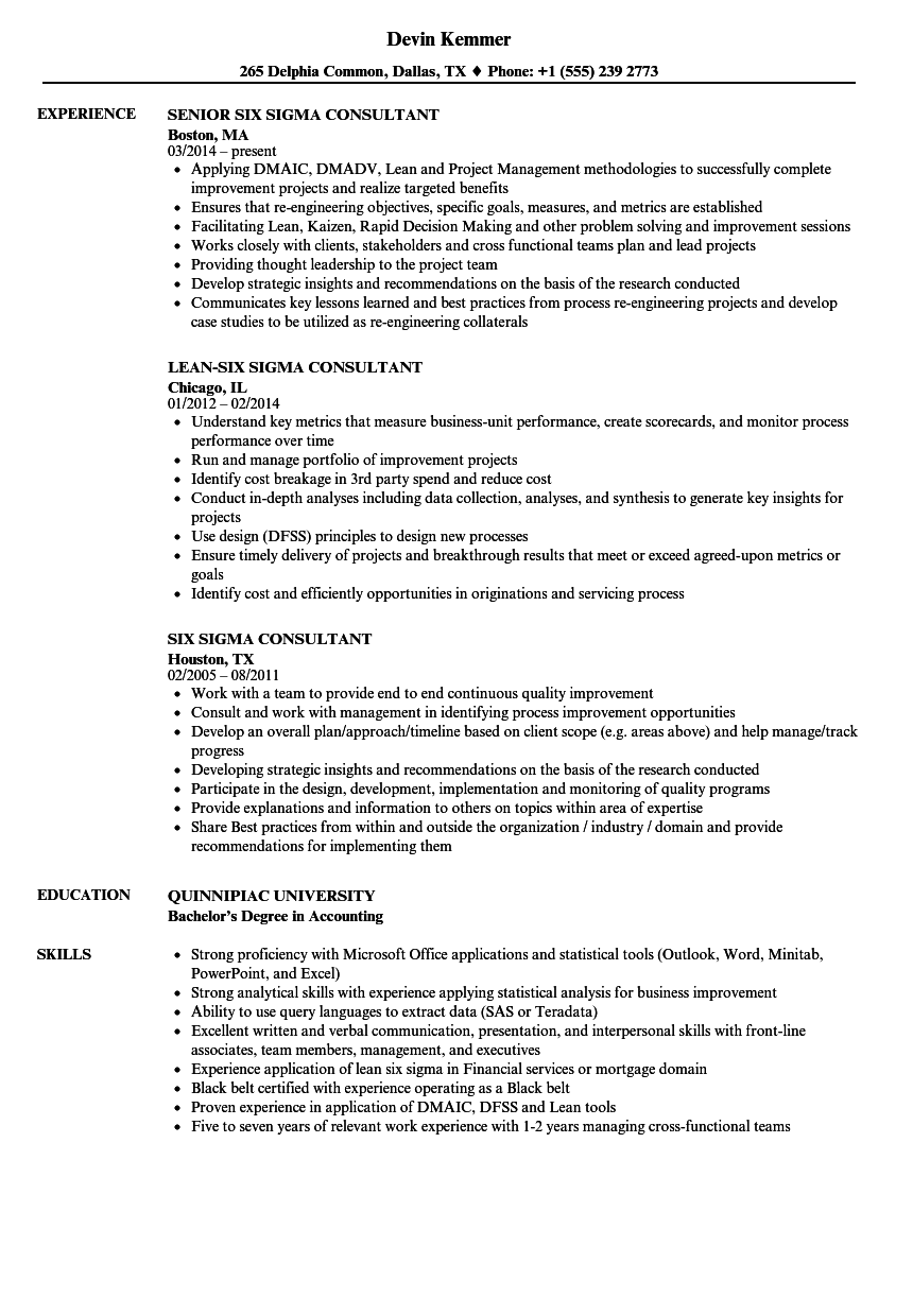 Six sigma consultant resume samples velvet jobs download six sigma consultant resume sample as image file 1betcityfo Gallery
