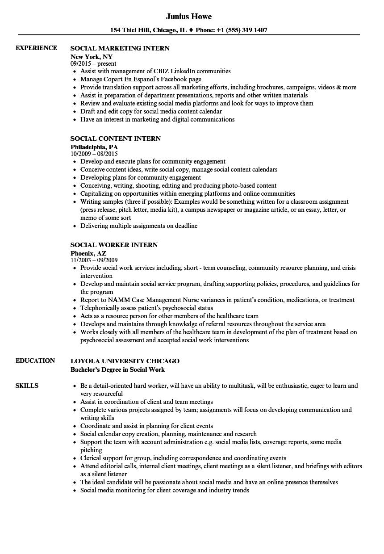 resume examples social worker  best resume ideas