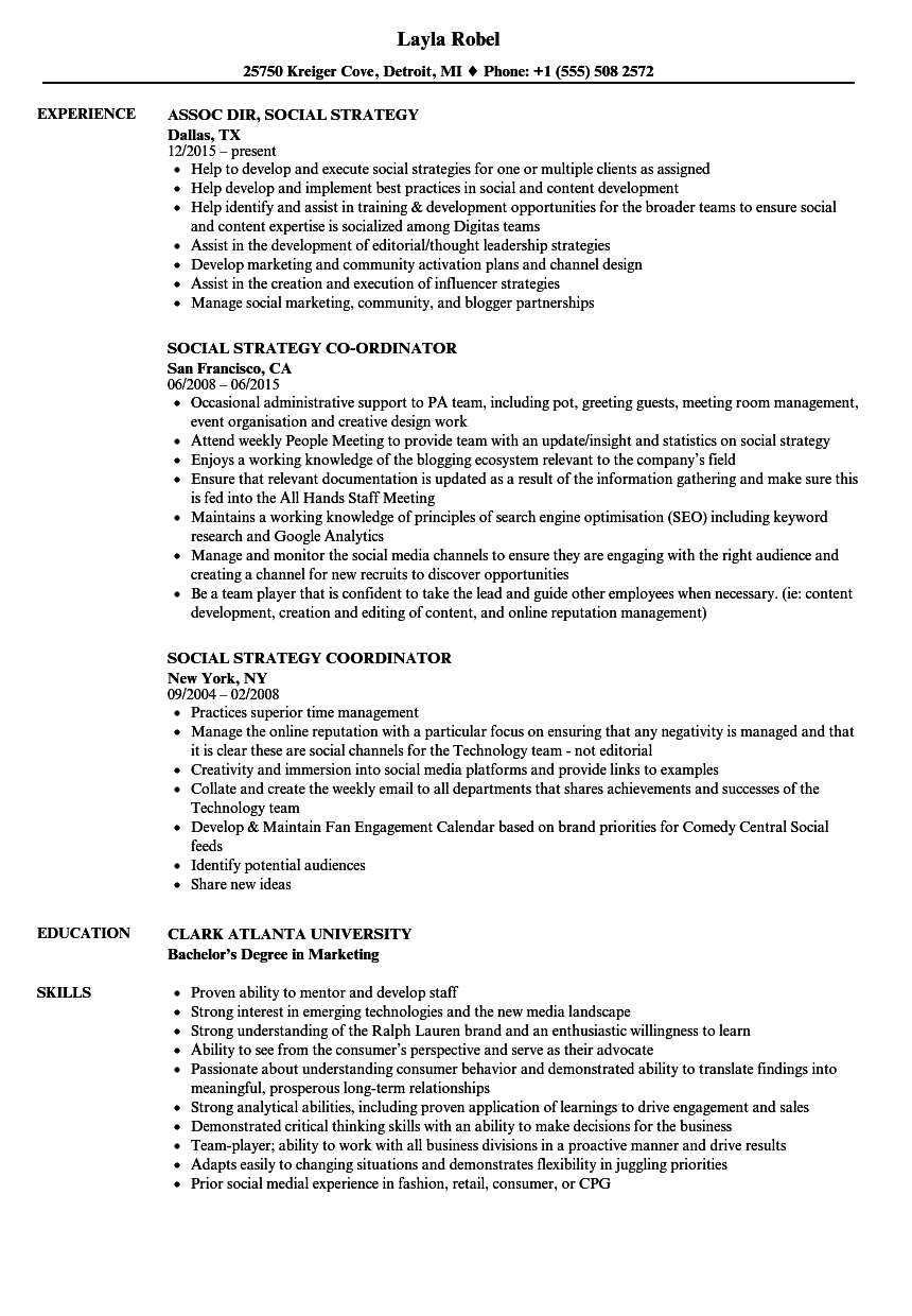 social strategy resume samples velvet jobs social strategy resume sample social strategy resume sample digital strategist resume 10 ways - Digital Strategist Resume