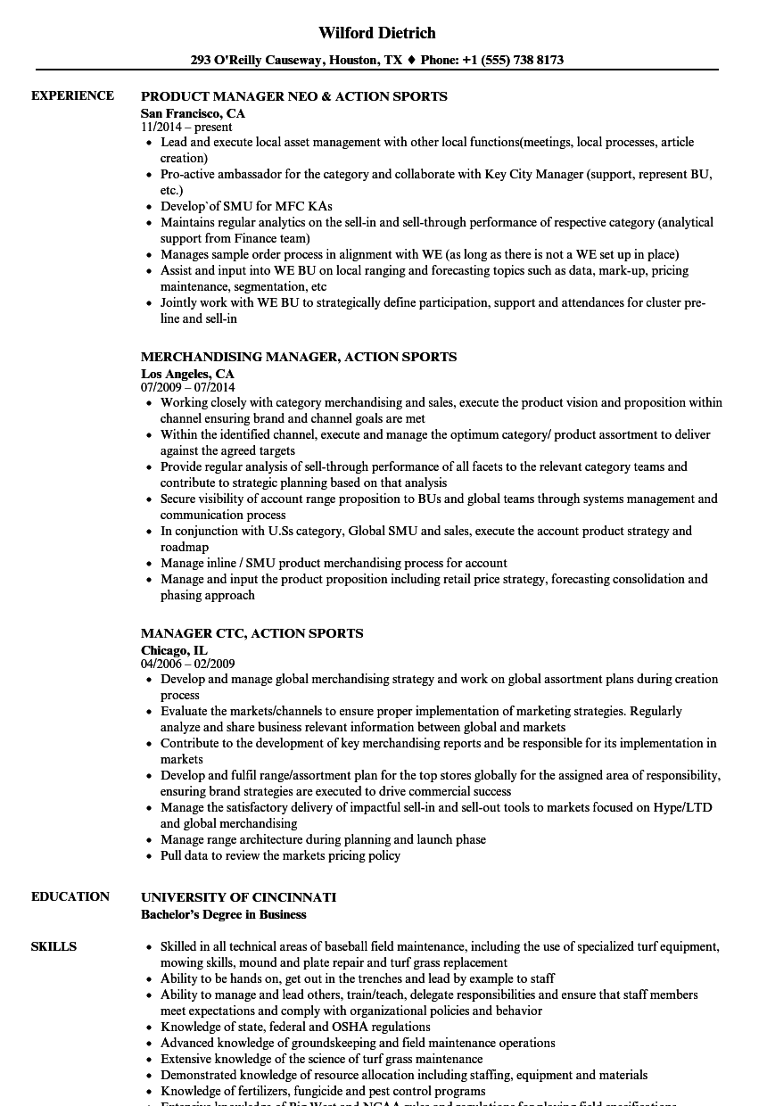 Download Sports Manager Resume Sample As Image File