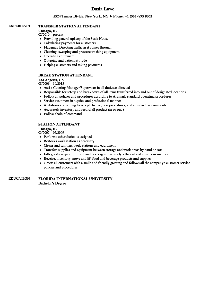 download station attendant resume sample as image file breakfast attendant sample resume - Breakfast Attendant Sample Resume