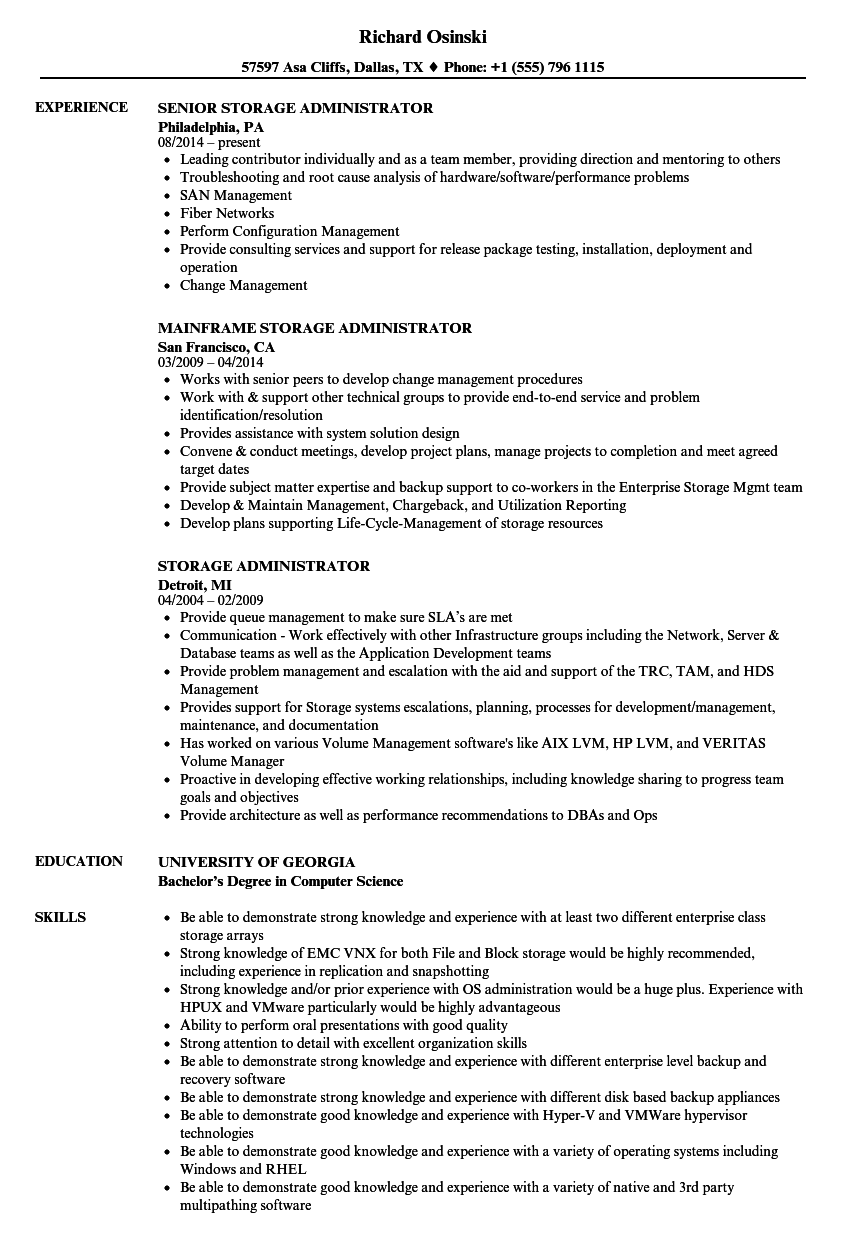 storage administration cover letter - 28 images - mainframe ...