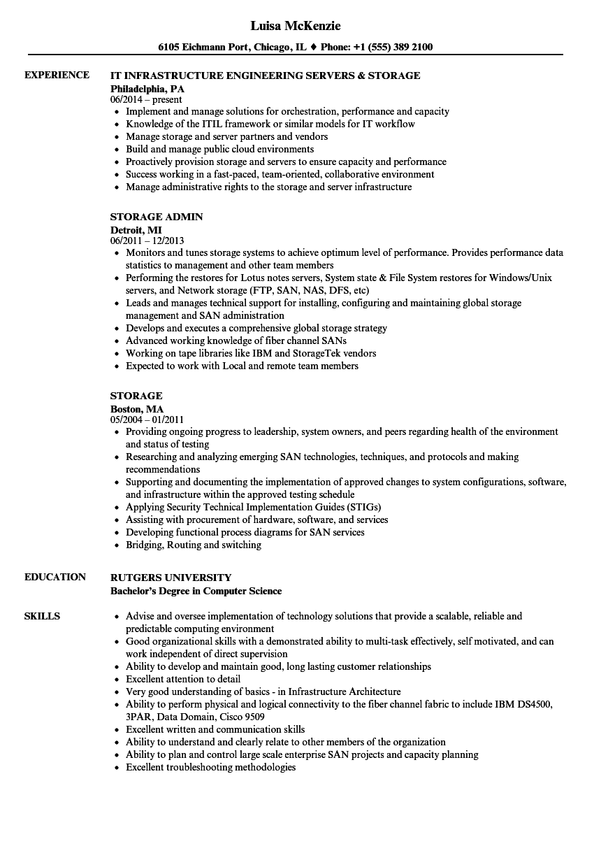 storage resume samples velvet jobs