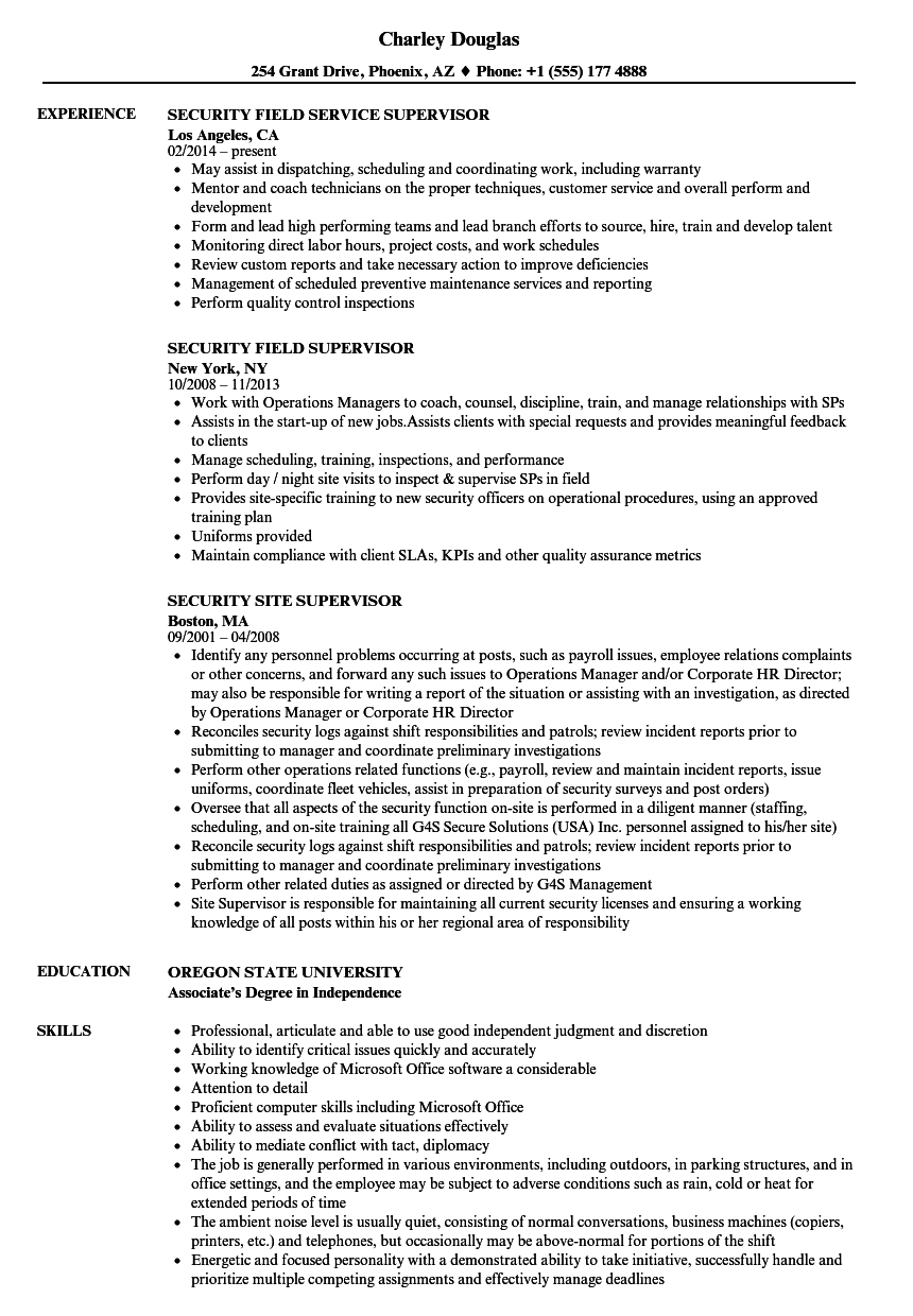 Supervisor security security resume samples velvet jobs download supervisor security security resume sample as image file 1betcityfo Gallery