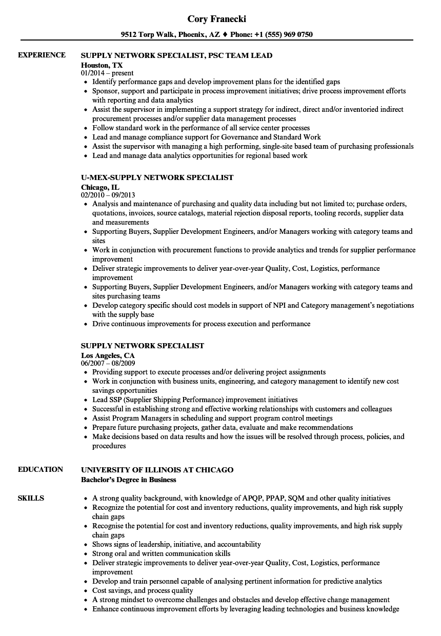 resume Network Specialist Resume supply network specialist resume samples velvet jobs download sample as image file