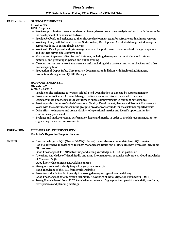 Technical Support Engineer Resume Sample. resume templates desktop ...