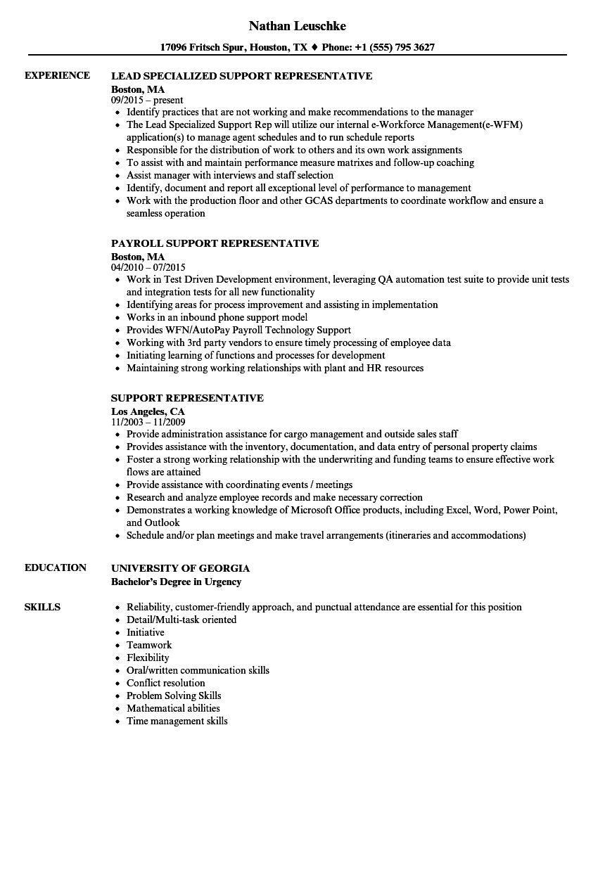 download support representative resume sample as image file