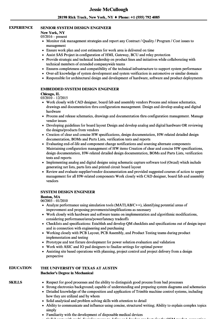 download system design engineer resume sample as image file - Sample Resume Pcb Design Engineer