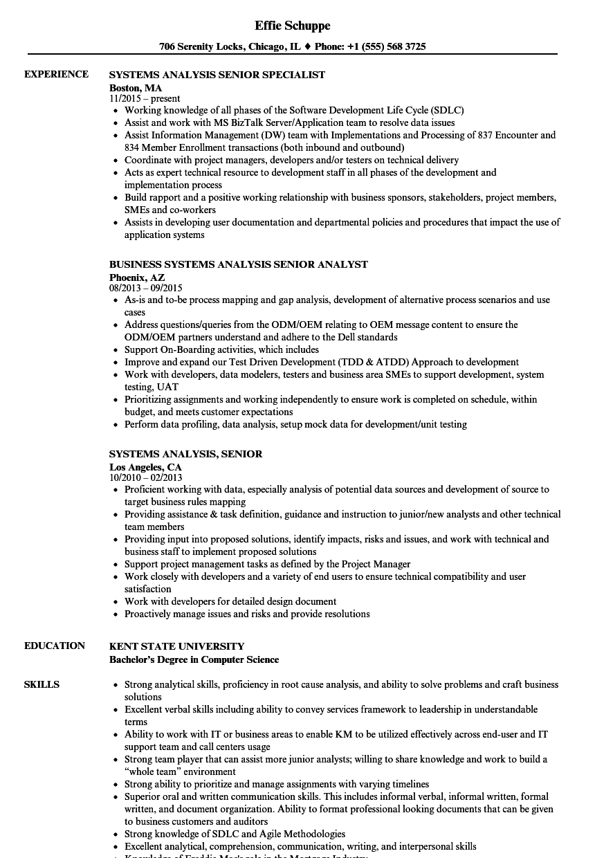 Systems Analysis Senior Resume Samples Velvet Jobs Uml2clearquest Visio State Diagram Template Download Sample As Image File