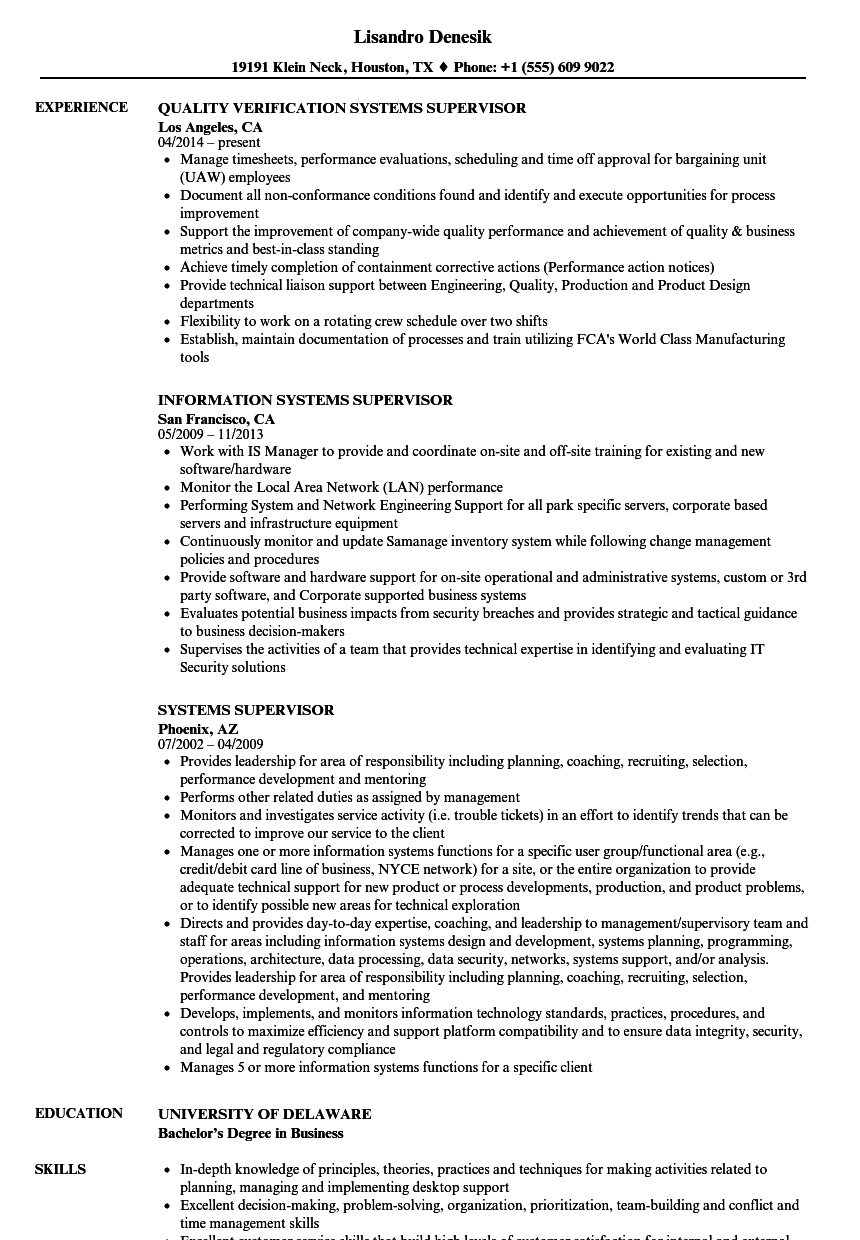 piping supervisor resume maintenance supervisor