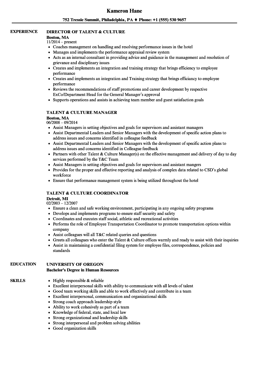 download talent culture resume sample as image file talent resume example - Talent Resume Format