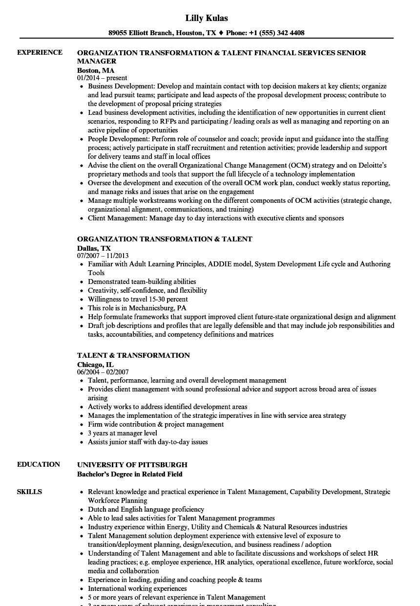 resume Development Areas In Resume talent transformation resume samples velvet jobs download sample as image file