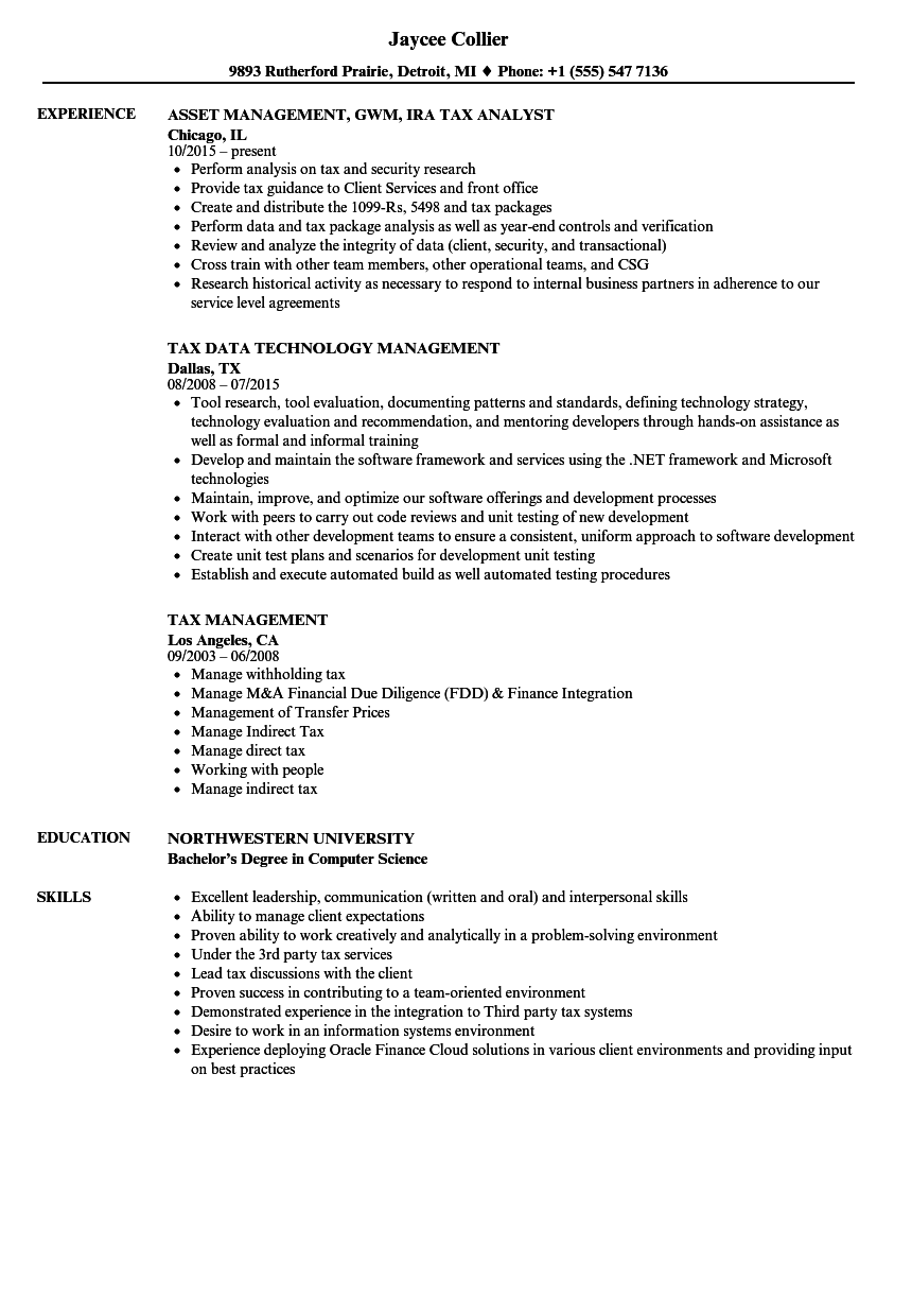 Tax management resume samples velvet jobs download tax management resume sample as image file yelopaper Image collections