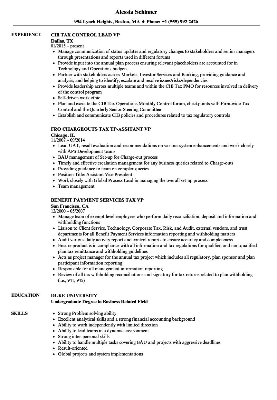 download tax vp resume sample as image file