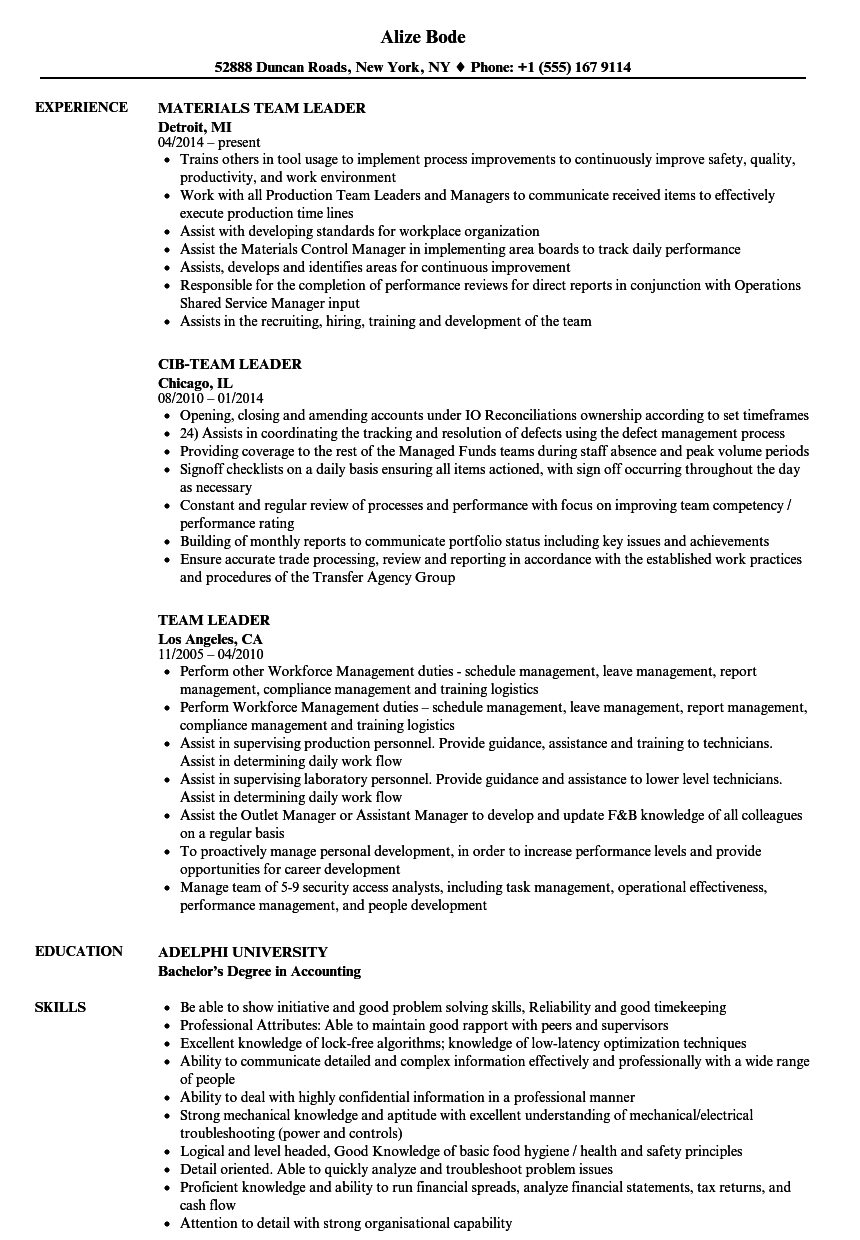 team leader resumemat bpo templates fantastic sample lead resume