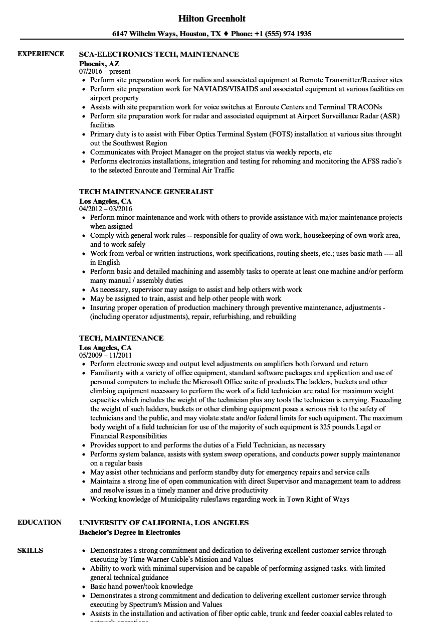 Tech maintenance resume samples velvet jobs download tech maintenance resume sample as image file 1betcityfo Image collections