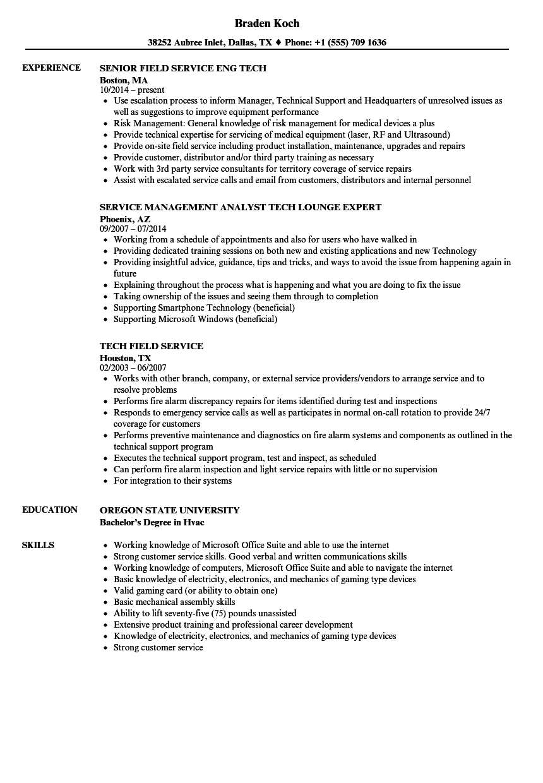 Tech, Service Resume Samples | Velvet Jobs